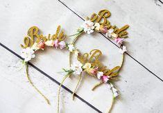 Bridal party headband Bachelorette Flower Headbands Floral headbands for bride Bachelorette party headband Bride to be crown Bride headband