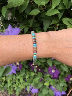 Turquoise heishi beads Shamballa bracelet Turquoise, Beads, Bracelets, Jewelry, Design, Beading, Jewlery, Bijoux, Pearls