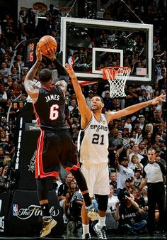 Lebron James and Tim Duncan - San Antonio Spurs