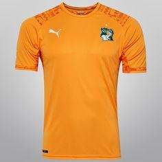 Camisa Puma Seleção Costa do Marfim Home 2014