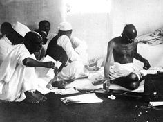 June Mahatma Gandhi working at his spinning wheel after his release from Yeravad Goal. He is at the begining of a three week fast in protest against British rule. (Photo by Keystone/Getty Images) Mahatma Gandhi Photos, French Prince, Will And Testament, India Independence, Political Prisoners, National Archives, Live News, American Revolution, Rare Photos