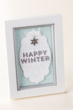 Use the Wintertime stamp to make some quick, classy home decor for your holidays.