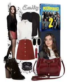 """""""Pitch Perfect 2- Emily"""" by kc-spangler ❤ liked on Polyvore featuring Planet, Topshop, Miss Selfridge, Chinese Laundry, M&Co, Replay, Kendra Scott, Laura Geller and pitchperfect2"""