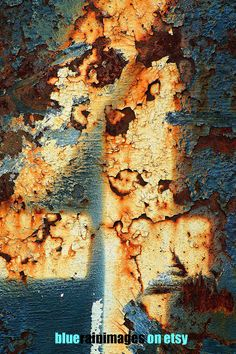 Rust,Urban Decay,Rusty Metal,Graffiti Art,Rust Photography by bluerainimages on Etsy