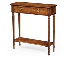 Seaweed Marquetry Console Table