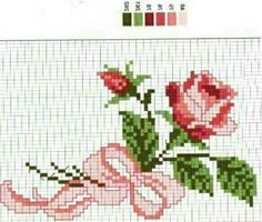 Mini Cross Stitch, Cross Stitch Cards, Simple Cross Stitch, Cross Stitch Rose, Cross Stitch Flowers, Cross Stitching, Cross Stitch Embroidery, Hand Embroidery, Embroidery Designs