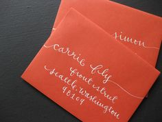 Rubber Stamp Kraft Paper Bridal Shower Invitation Calligraphy | Oh So Beautiful Paper
