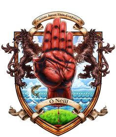 o 39 neill family crest lamh dearg eirin the war cry of the o 39 neill clan which means the red. Black Bedroom Furniture Sets. Home Design Ideas