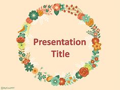 Decorative Floral Frame PowerPoint Template