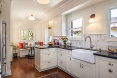 The kitchen remodel in this 1931 Tudor home located in Belmont Shore…