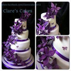 Purple Butterfly cake.......