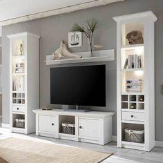 Uberlegen Landhaus Anbauwand In Pinie Weiß LED Beleuchtung (4 Teilig) Jetzt Bestellen  Unter: