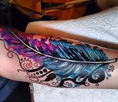 pink and purple tattoos - Google Search