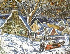 Marc-Aurèle Fortin - Marc- Aurele Fortin is known and admired as the great champion of the Quebec landscape painters. Canadian Painters, Canadian Artists, Clarence Gagnon, Art Gallery, Snow Art, National Art, Australian Art, Winter Art, Paisajes