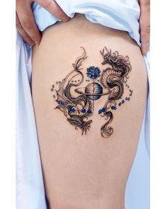Pretty Tattoos, Unique Tattoos, Cute Tattoos, Small Tattoos, Tatoos, Dragon Tattoo Leg, Dragon Tattoo For Women, Red Ink Tattoos, Body Art Tattoos