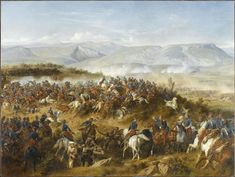 The Chasseurs d'Afrique, led by General d'Allonville, clearing Russian artillery from the Fedyukhin Heights.