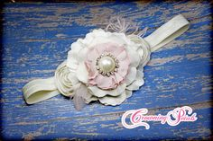 Hey, I found this really awesome Etsy listing at https://www.etsy.com/listing/217396706/blush-ivory-bridesmaid-hair-clip-pale