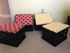 Milk Crate Chairs   Google Search