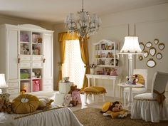 Cool teenage girl bedroom design ideas : astounding elegant girls bedroom design ideas with gold color Girls Bedroom Furniture, Bedroom Themes, Diy Bedroom Decor, Bedroom Ideas, Whimsical Bedroom, Mirror Bedroom, Gold Bedroom, Bedroom Styles, White Bedroom