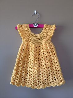 Free Crochet Dress Pattern for Newborn                                                                                                                                                     More