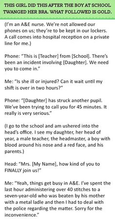 This Girl Did This After The Boy At School Twanged Her Bra. What Followed Is Gold | Hrtwarming [Click through for story.]