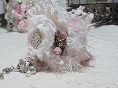 Shabby Chic Fabric Lace Cuff