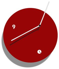 'globus 30 wall clock - red' from tothora — there is also a model with a pendulum