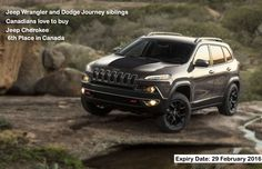 #Jeep #Cherokee is available with  front- or all-wheel-drive, five-passenger & four-door only on $25,995.