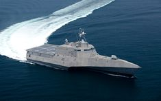 Download wallpapers littoral combat ship, USS Manchester, LCS-14, 4k, warship, US Navy, USA, Independence-class