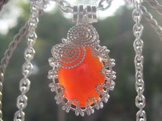 Spatial Carnelian Pendant - Carnelian Oval Cabochon Wire Wrapped in Sterling Silver Wire Wrapped Jewelry, Wire Jewelry, Unique Jewelry, Jewlery, Carnelian, Wire Wrapping, Christmas Bulbs, Pendants, Sterling Silver