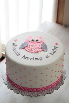 70 Ideas Baby Shower Cake Pink Gender Neutral For 2019 Tortas Baby Shower Niña, Idee Baby Shower, Girl Shower, Baby Shower Themes, Simple Baby Shower Cakes, Baby Shower Owl Cake, Baby Shower Cakes Neutral, Shower Ideas, Baby Cakes