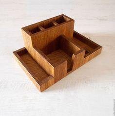 Купить Органайзер настольный из дуба - настольный органайзер, органайзер настольный, деревянная карандашница, карандашница из дерева