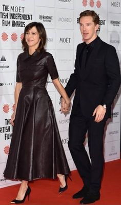 Sophie Hunter and Benedict Cumberbatch at the Moet British Independent Film Awards 7th December 2014 I ship it so hard.
