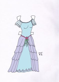 Ariel paperdoll dress #16 by Etchingz on deviantART