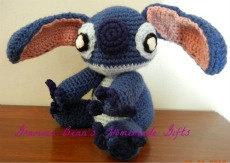 Little stuffed Alien by grammabeans on Etsy, $37.99