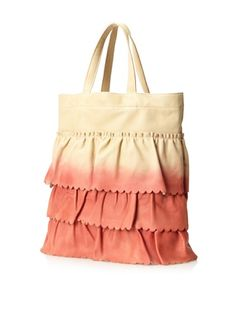 50% OFF RED Valentino Women's Layered Tote, Beige/Pink