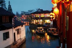 Zhujiajiao, the Venice of Shanghai. One of the larger water towns in Shanghai
