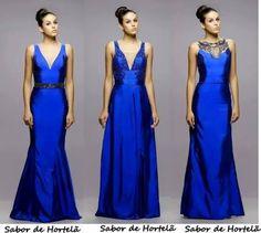 Resultado de imagem para vestido madrinha azul royal