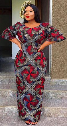 african print long dress, African fashion, Ankara, kitenge, African women dresse… Remilekun - African Styles for Ladies African Fashion Ankara, African Fashion Designers, Ghanaian Fashion, Latest African Fashion Dresses, African Dresses For Women, African Print Dresses, African Print Fashion, Africa Fashion, African Attire