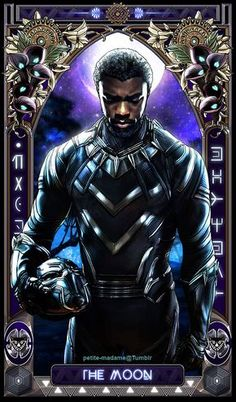 "petite-madame: "" Black Panther Tarot (Part - 2018 My take on The Black Panther movie characters. I'm gonna take a break then work on the rest of the characters soon. ^^ "" These are amazing! Marvel Comics, Heros Comics, Hq Marvel, Marvel Heroes, Marvel Cinematic, Kelly's Heroes, Comic Superheroes, Black Panther Marvel, Black Panther King"