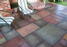 40 Stunning Painted Floor Tiles For Patio Decor Ideas - HOOMDESIGN Getting a fresh out of the box new search for your patio has never been simpler. Patios are normally utilized as zones for individual unwinding and diversion, or in some [Continue Read] Painting Tile Floors, Painting Concrete, Concrete Tiles, Stained Concrete, Painted Floors, Concrete Patios, Concrete Staining, Cement Floors, Concrete Porch