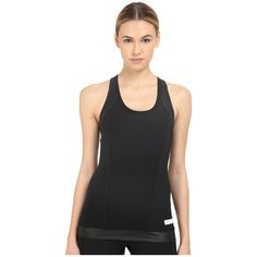 adidas by Stella McCartney The Performance Tank Padded AO4715 Women's... ($65) ❤ liked on Polyvore featuring activewear, activewear tops, black, logo sportswear, adidas activewear, balconette bra, balcony bra and adidas sportswear