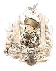 Little Davy Crockett - Loggie Fine-Art