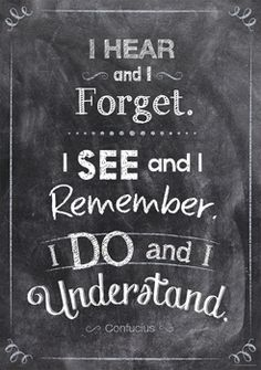 I hear and I forget… Inspire U Poster by Creative Teaching Press. NEW Inspirational posters
