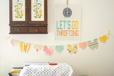 Hearts and Flowers Garland using Makin it Cute Templates