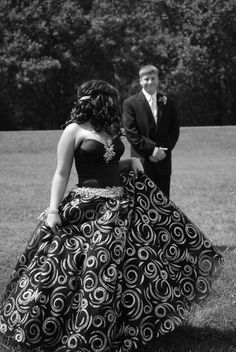 Prom pose in black and white...