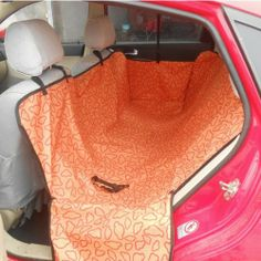 Car Back Seat Pet Dog Mat Orange Full Protect Cover Anti Scratch Blanket - http://www.thepuppy.org/car-back-seat-pet-dog-mat-orange-full-protect-cover-anti-scratch-blanket/