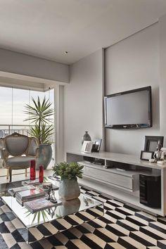 Apartamento clássico e contemporâneo