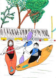 illustration kayak