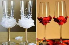 Diy Flower Bead Decorated Wine Glasses   The WHOot